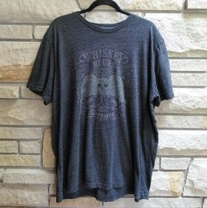 Lucky Brand whiskey blues graphic t-shirt xxl